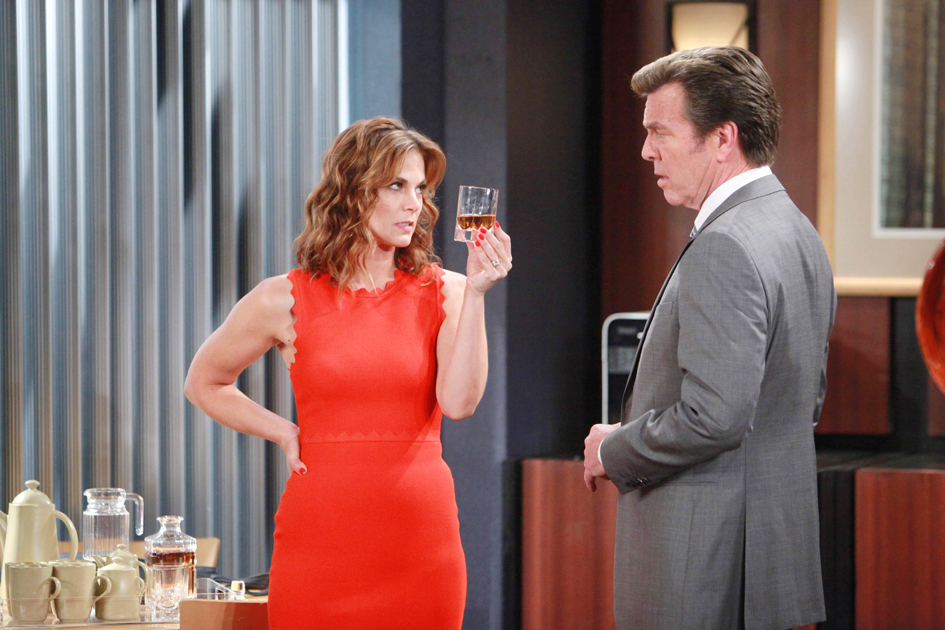 """Gina Tognoni, Peter Bergman """"The Young and the Restless"""" Set  CBS television City Los Angeles 06/22/16 © Howard Wise/jpistudios.com 310-657-9661 Episode # 10977 U.S. Airdate 08/01/16"""