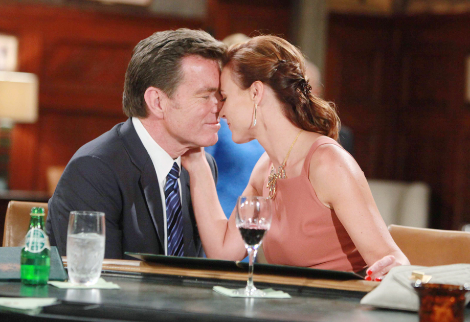 """Peter Bergman, Gina Tognoni """"The Young and the Restless"""" Set  CBS television City Los Angeles 06/28/16 © Howard Wise/jpistudios.com 310-657-9661 Episode # 10981 U.S. Airdate 08/05/16"""