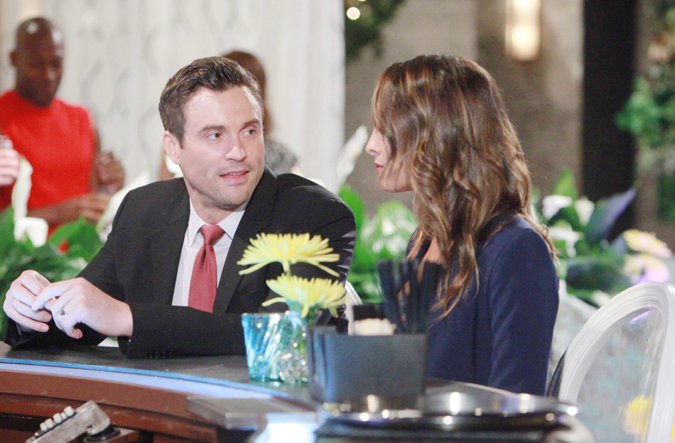 """Daniel Goddard, Christel Khalil """"The Young and the Restless"""" Set  CBS television City Los Angeles 06/28/16 © Howard Wise/jpistudios.com 310-657-9661 Episode # 10981 U.S. Airdate 08/05/16"""