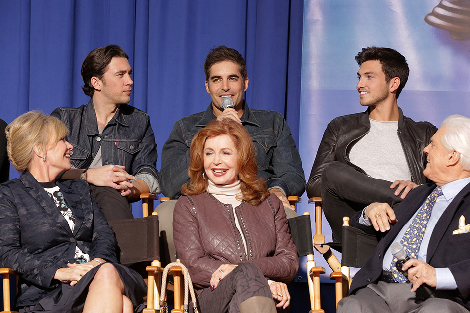 DAYS OF OUR LIVES -- A Day of Days Event -- Pictured: (l-r) Mary Beth Evans, Billy Flynn, Galen Gering, Suzanne Rogers, Robert Scott Wilson, Bill Hayes -- (Photo by: Chris Haston/NBC)