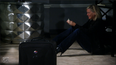 Carly weeps over Morgan's death.