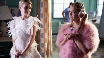 """Scream Queens: L-R: Emma Roberts and Billie Lourd in the all-new """"Chanel Pour Homme-Icide"""" episode of SCREAM QUEENS airing Tuesday, Nov. 1 (9:00-10:00 PM ET/PT) on FOX.  Cr: Michael Becker / FOX. © 2016 FOX Broadcasting Co."""