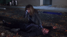 Alexis calls 911 after she hits Julian with her car.