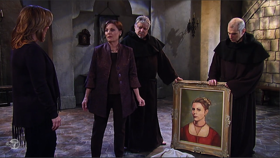 Tracy and Laura are surprise to see the resemblance in the painting.