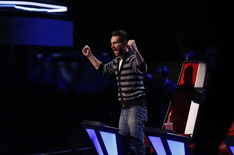 "THE VOICE -- ""Live Show"" Episode 515B -- Pictured: Adam Levine -- (Photo by: Trae Patton/NBC)"