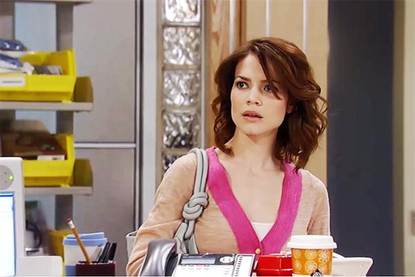 Liz overhears Sabrina's secret. Photo courtesy ABC