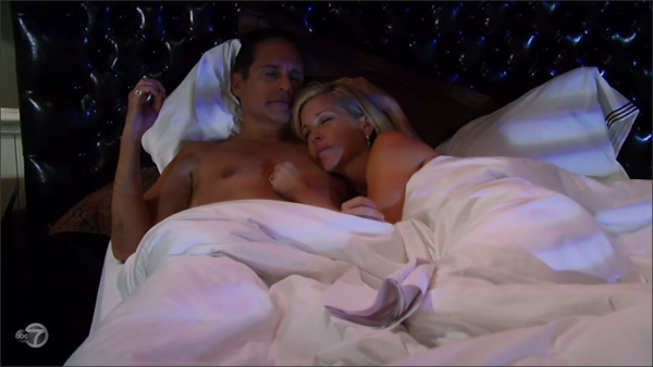 Sonny and Carly spend the night together.