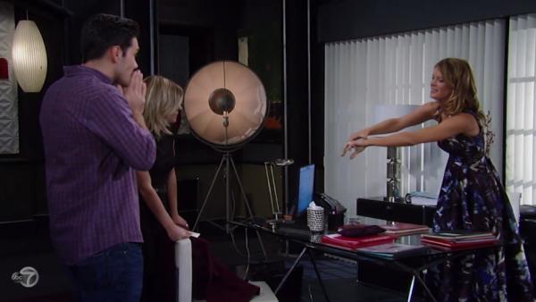 Nina tells Nathan and Maxie that she highjacked their wedding.